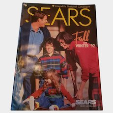 1992 SEARS Fall And WINTER Advertising Sales Catalogue  Catalog