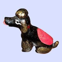Figural Black Poodle Sewing Pincushion Tape Measure Toy Japan