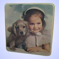 Used Vintage Advertising Tin Box Burton's Gold Medal Biscuits Edinburgh Blackpool