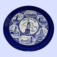 Collectible Vintage Souvenir Plate New York City Attractions