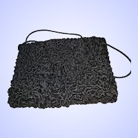 Black Persian Lamb Style Ladies Hand Muff