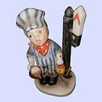 "Vintage Collectible  Novelty Ceramic Figurine ""Little Engineer"" AHIL Napco 1958 Japan"