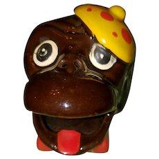 Novelty Smoker Ashtray Black Americana Collectible Tobacciana