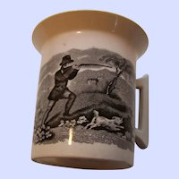 B&W Transfer Hunting Scene Cup Mug Made in England
