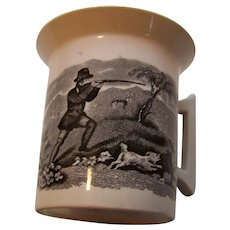 B&W Transfer Hunting Scene Cup Mug Made in England
