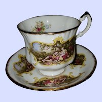 VTG Paragon Fine Bone China Teacup Saucer Chippendale