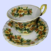 Royal Albert Bone China Teacup Saucer  Fragrance Series Marguerite