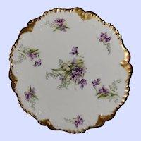 Such A Pretty Limoges Elite Purple & White Floral Themed Plate MI France