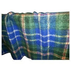 LOVELY Fringed Wool Blanket Nova Scotia Tartan by Bonda Inc Yarmouth