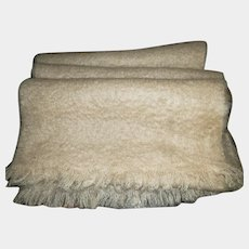 Gently Used Fringed Scarf 100 % Pure Mohair Woven  by CRAIG-NA-CREIDGE Scotland