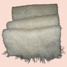 70 % Mohair 30% Pure New Wool Fringed Scarf Made in Scotland