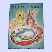 A Rand McNally Junior Elf Book Little Rabbit's Bath