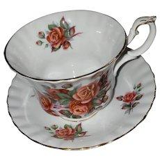 Royal Albert Bone China England Centennial Rose Teacup Saucer Set