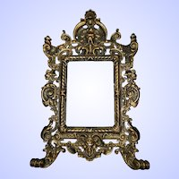 Heavy Embossed Decorative Cast Iron Picture Frame  no Easle Back
