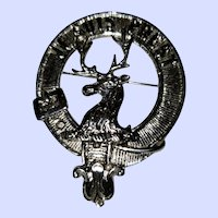 Scottish  Pin Je Suis Prest Stag Clan Fraser of Lovat