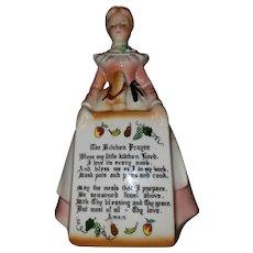 Vintage Mid-century Prayer Lady Ceramic Wall Plaque