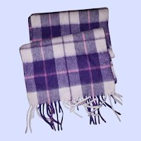B Ballantrae Edinburgh 100 % Lambswool Fringed Scarf