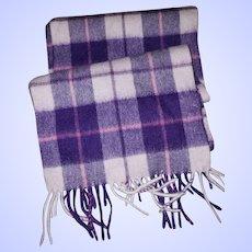 B Ballantrae Edinburgh 100 % Lambswool Fringed Scarf