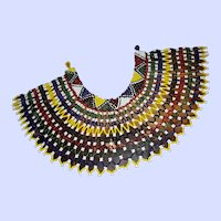 Cheery Colorful Glass Seed Bead Necklace Collar
