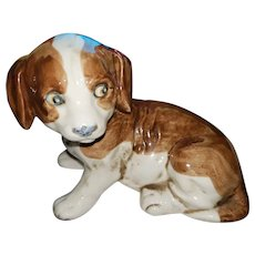 What a Sweet Vintage Ceramic Puppy Dog Figurine Japan