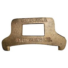 VINTAGE Brass Metalware Nautical FISHERY Fishing Tool Lobster Claw Measure Lunenburg Foundry N.S.