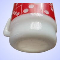 Vintage Milk Glass Mug Domino Theme Anchor Hocking USA
