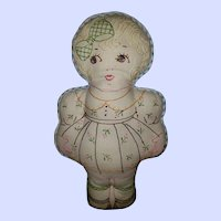 SWEET Vintage Cloth Embroidered Dolly Dolly
