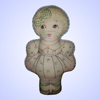 SWEET Vintage Cloth Embroidred Dolly Dolly