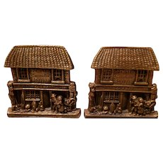 """VINTAGE Bookends of Charles Dickens' """"The Old Curiosity Shoppe"""