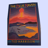 Hard Cover Book The Blue Raven by Ted Harrison Illustrated