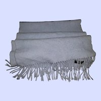 Gently Used Fringed Fashion Scarf 90% Merino Wool 10% Cashmere MI