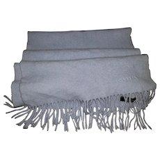 Gently Used Fringed Fashion Scarf 90% Merino Wool 10% Cashmere MI