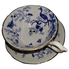 "Vintage Coalport ""Cairo"" pattern bone china cup & saucer"