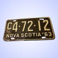 NOVA Scotia Metal License Plate C4-72-12 63