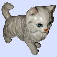 Vintage Ceramic White Kitty Cat Ceramic Figurine Lefton JAPAN