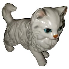 Vintage Ceramic White Kitty Cat Ceramic Figurine Lefton JAPAN