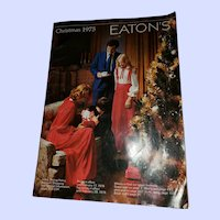VTG ADVERTISING Christmas Catalog Catalogue Eaton's 1975