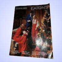VTG ADVERTISING Christmas Catalog Catalogue Eaton's 1975