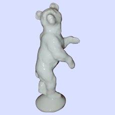 ROSENTHAL MAX FRITZ GRIZZLY BEAR Wild Animal White Vintage Porcelain Miniature Figurine