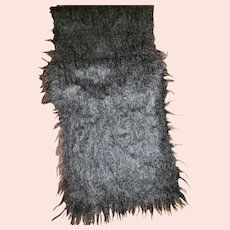 Vintage Black Mohair Wool Fringed Fashion Scarf Royal Scot Great Britain