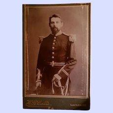 Vintage CDV Photograph H.B.Collis Canterbury of HJ Allen RN Acting Engineer HMS Royalist