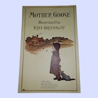 Soft Cover Book Booklet Mother Goose Illustrate by Kate Greenaway