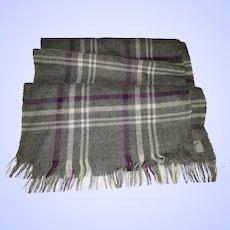 Gently Used Wool Fringed Scarf Legacy