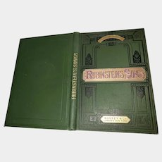 VINTAGE Fabulous Cover  Hard Cover Book Royal Edition RUBINSTEIN'S SONGS