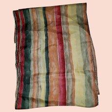 Lovely Vintage Striped Silk Long Rectangular Ladies Fashion Scarf