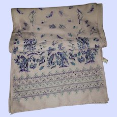 VTG Insect Butterfly Bird Caterpillar Seahorse Scarf