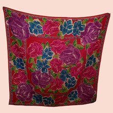 Vintage Liz Claiborne 100 % Wool Scarf Shawl MI Japan