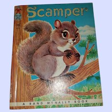 SWEET Vintage Children's Book Scamper Tip Top Elf Book