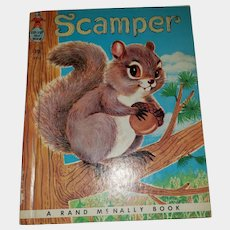 SWEET Vintage Children's Book Scamper Tip Top Elf Book