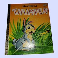 VINTAGE Children's Book Walt Disney's Thumper